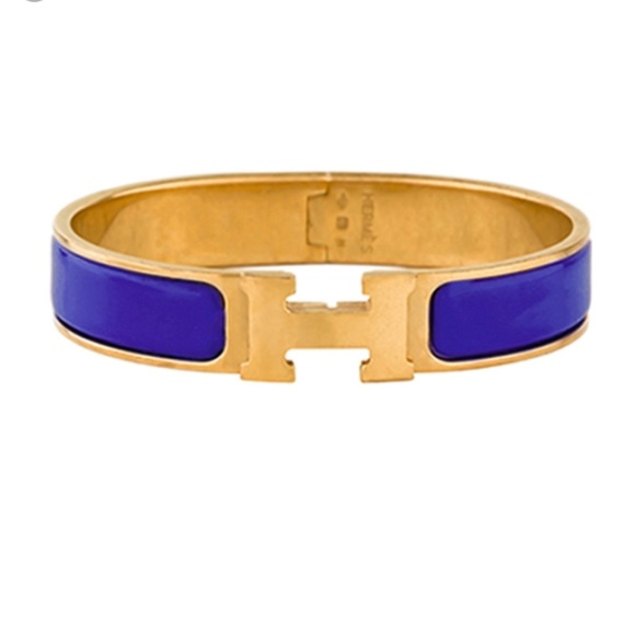 Hermes Jewelry   Herms Clic H Bracelet In Royal Blue   Poshmark 329a3f08b5b